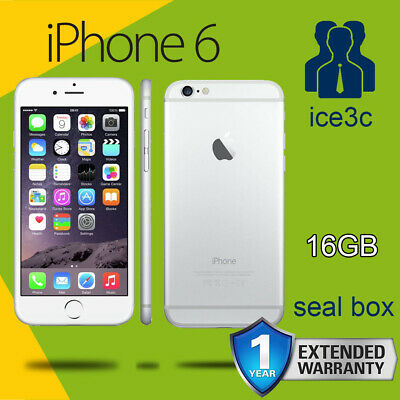NEW SEALED Apple iphone 6 16GB Silver Plus GIFT 4G LTE Unlock Smartphone 1Yr Wty