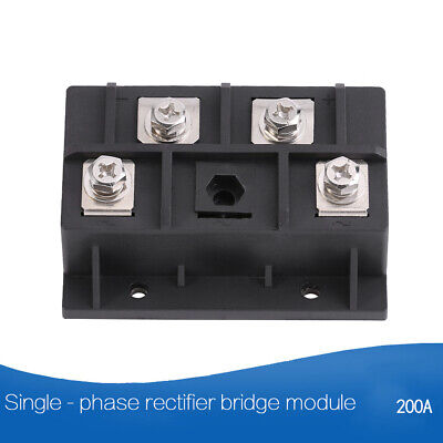 1pc 200A 1600V Diode Module Single Phase Bridge Rectifier 4 Terminals