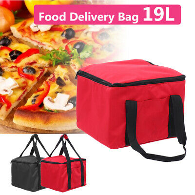 19L Pizza Insulated Foil Food Delivery Bag Oxford Storage Heat Cold Portable