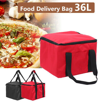 36L Food Delivery Bag Pizza Insulated Foil Oxford Storage Heat Cold Portable