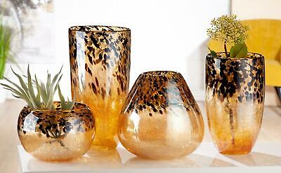Spectacular Very Large Art Glass Blown Multi Coloured Studio Vase with Copper