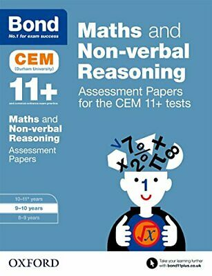 Bond 11+: Maths and Non-verbal Reasoning Assessment Papers fo New Paperback Book