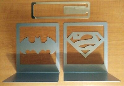 DC Comic Batman Superman Graphic Novel Collection Subscriber Bookends & Bookmark