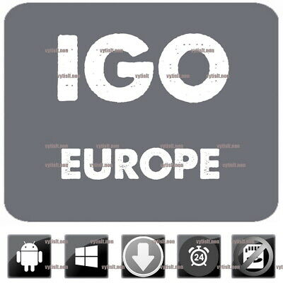 COMPATIBLE TO IGO Navigation Europe 2019 Maps, App for WinCE & Android GPS  Primo