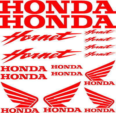 kit adesivi honda hornet moto racing bike sticker decal vinile rossi