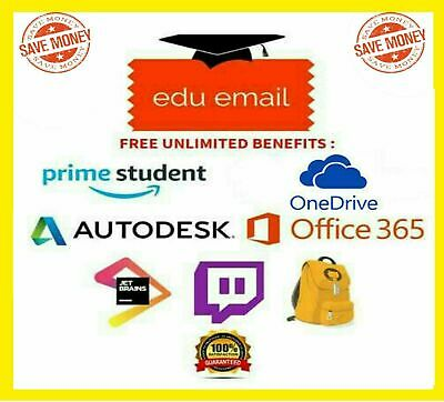 Edu Email Student 6 Months Amazon Prime Unlimited Office365 OneDrive ✅INSTANTLY✅