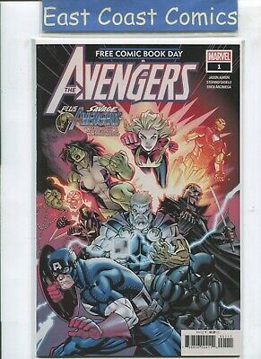 AVENGERS #1 Plus SAVAGE AVENGERS - FREE COMIC BOOK DAY 2019 FCBD -BAGGED/BOARDED