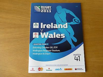 2011 Rugby World Cup programmes for all 4 quarter-finals brand new
