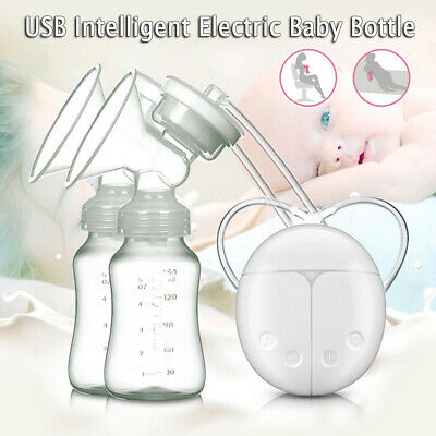 Automatic Baby Feeder Double Intelligent Electric Handfree Breast Pump USB