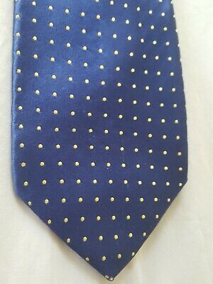 PiNk By Thomas Pink Raised Gold Dot Blue Tie