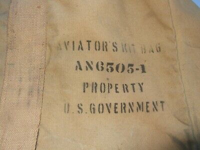 Vtg Ww2 Aviator Kit Bag