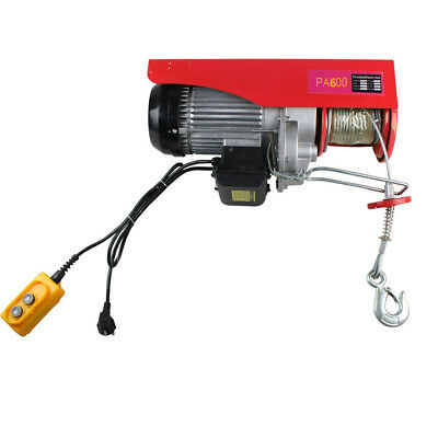 Overhead Electric Winch Hoist Crane Scaffold Cable Lifting 300-600Kg Lift Garage