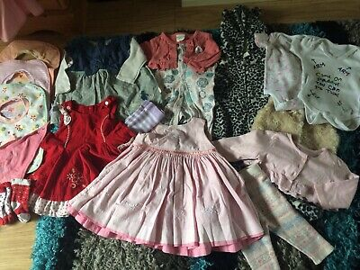 Baby Girl Clothes Bundle 3-6 Months. 19 Items. Next, M&S, H&M, Baby Gap.