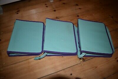 docrafts stamp storage folders with pouches x3