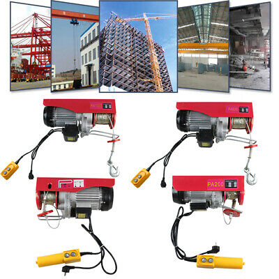 ELECTRIC SCAFFOLD HOIST ELECTRIC WINCH 200/600/800/1000KG with HOOK AND PULLEY