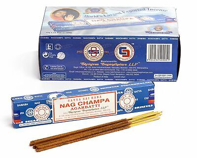 4 Packs Original Satya Sai Baba Nag Champa Incense Sticks Joss Insence Genuine