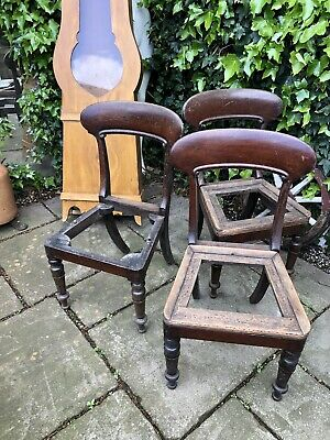 3 Georgian Dining Chairs For Restoration