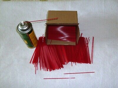 Red Extension Straws /Tubes 50 Piece Fit Most Aerosol Spray Cans 6 inch Made US