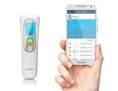 Motorola Smart Touchless Forehead Thermometer with Tracking MBP70SN - NEW