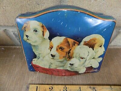 Cremona Toffee Jack Russell Dog Confectionery Tin c1930s
