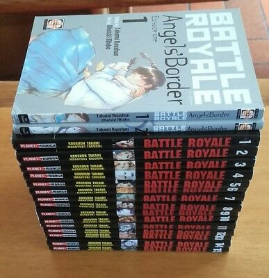 Battle Royale 1/15 Completa Planet Manga + Spinoff Angels' Border 1/2 + Omaggio