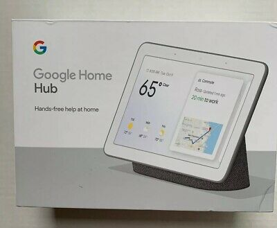 Google Home Hub with Google Assistant Chalk (GA00516-US) New Sealed