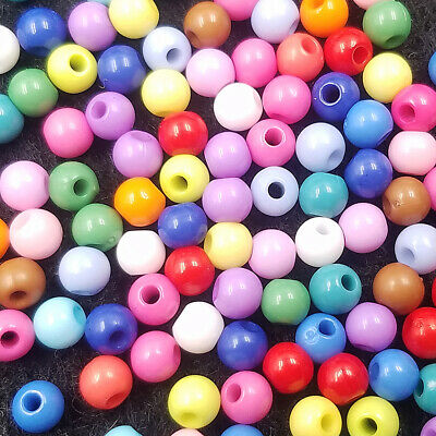 FREE Beads 4mm color Small bulk multi 400PCS findings Acrylic Round Lot Spacer