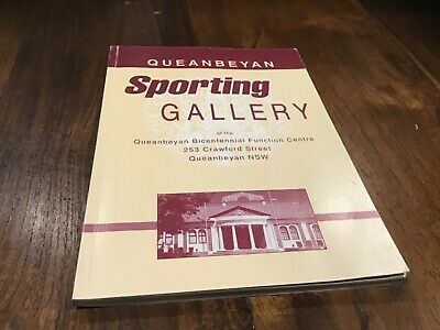 Vintage Queanbeyan sporting gallery  book signed jim woods & others