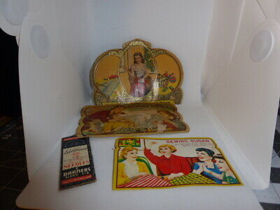 VTG Lot -SEWING NEEDLE BOOKS Sewing Susan Sewing Circle Old Fashioned Needle