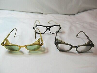 Vintage Lot Of 3 AO American Optical Z87 Safety Glasses