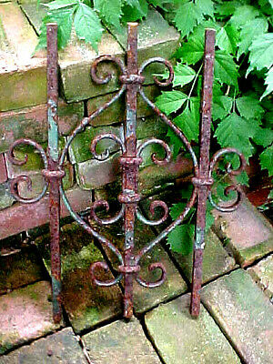 Antique Cast Iron & Steel Grid Grate Victorian Rustic Shabby Chic Architectural