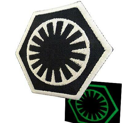 Star Wars First Order Force Awakens glow dark bordado parche sew iron on patch