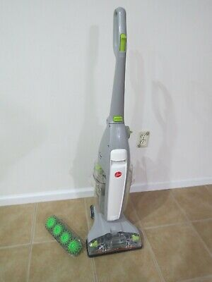 Hoover FLOORMATE Deluxe Hard Floor Cleaner-Gray w/Tile and Grout Brush.