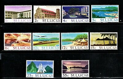 Hick Girl Stamp- Mh. St. Lucia Stamps   Sc#261-70  Scenic Places     P705