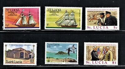 Hick Girl Stamp-  Beautiful Mh. St. Lucia Stamp Assortment      P706