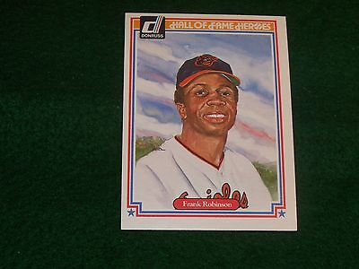 "frank robinson  (balt. orioles-of) 1983 donruss ""hall-of-fame heroes"" CARD #19"