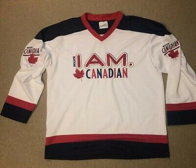 Canadian Molson Canada Beer Ice Hockey Jersey Used Size L