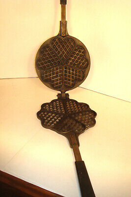 Vintage Jotul#6 Cast Iron Waffle/Cookie Maker,Heart Shape Mold,Made In Norway