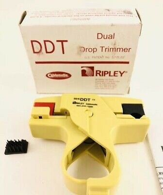 RIPLEY CABLEMATIC DDT59611 Dual Drop Trimmer For RG59 RG6 AND RG11