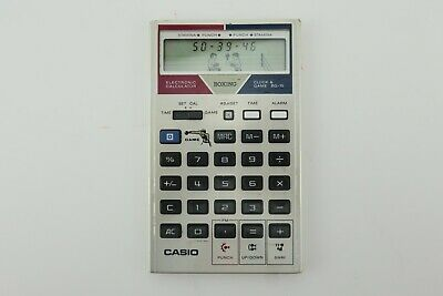 Casio Electronic Calculator w/ Boxing Game & Clock BG-15 - Vintage