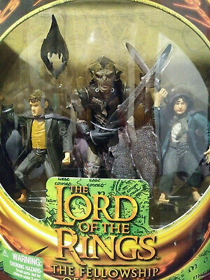 LOTR Fellowship Of The Rings Moria Orc Merry & Pippin Toy Biz 2001 Figures MIB