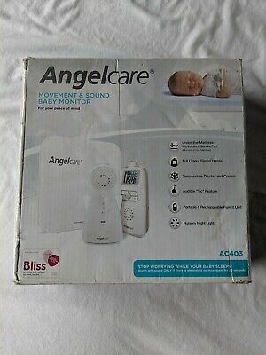 Angelcare AC403 Movement & Sound Baby Monitor with manual