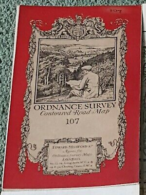 1920 ordnance Survey OS N.E London & Epping Forest 1 inch to 1 mile road map 107