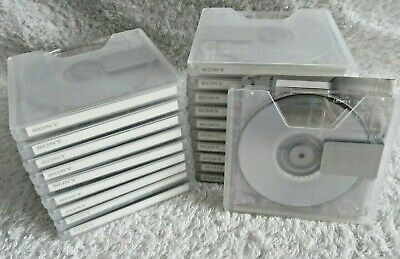 20 Sony NEIGE RECORDABLE MD 80 Min MiniDisc JAPAN IMPORT USED With Cases