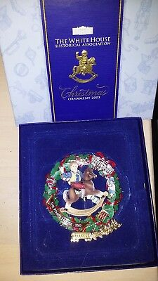 The White House Historical Association Christmas Tree Ornament 2003 EUC in box