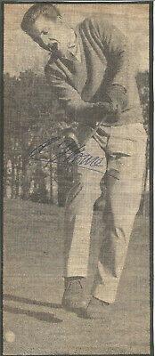 Football Autograph Adrian Thorne Playing Golf Signed Newspaper Picture F1003