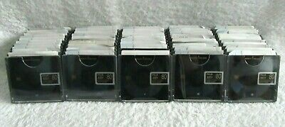 50 FUJI RECORDABLE MD 80 Min CLEAR & DYNAMIC MiniDisc USED With Cases