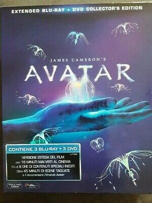 Avatar = Extended 3 Blu-Ray + 3 Dvd Collector's Edition = Cof. 6 Dischi = Nuovo