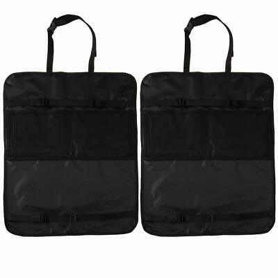 2 Pack Seat Back Protector Kick Mat Set with Organizer Storage Pockets