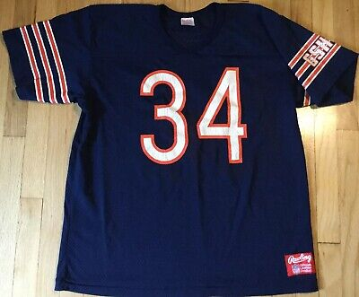 Vintage 80s WALTER PAYTON jersey XL Rawlings #34 Chicago Bears football NFL